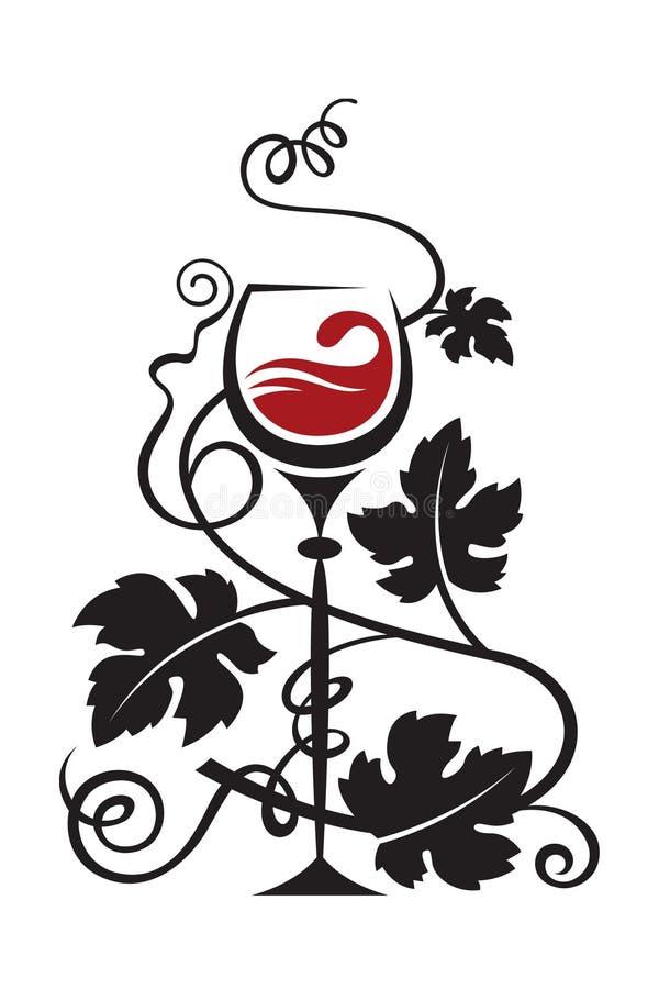 Glas en druiven vector illustratie