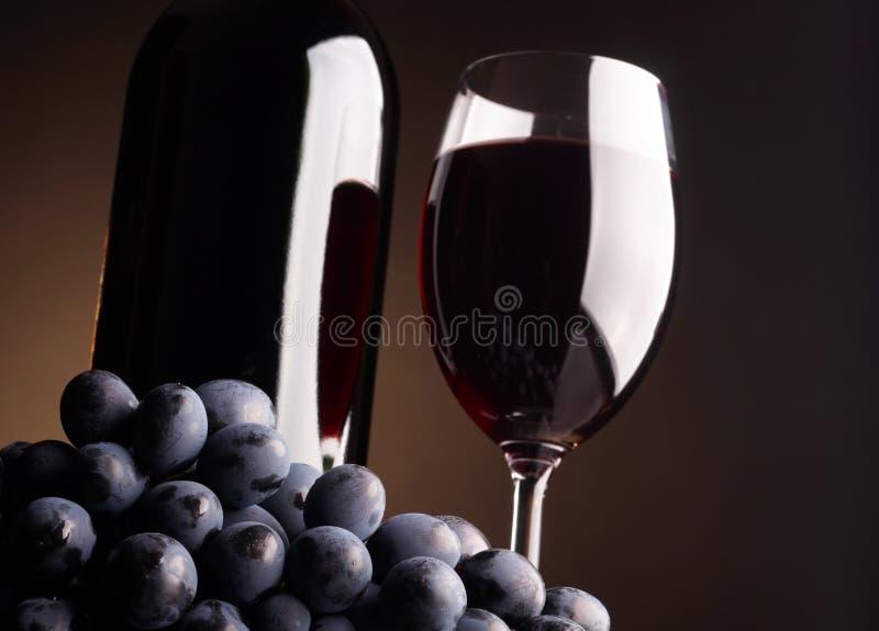 Glas en fles royalty-vrije stock afbeeldingen