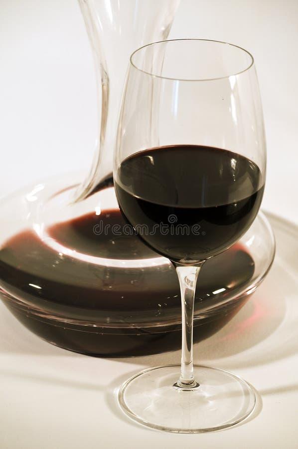 Glas en karaf royalty-vrije stock foto