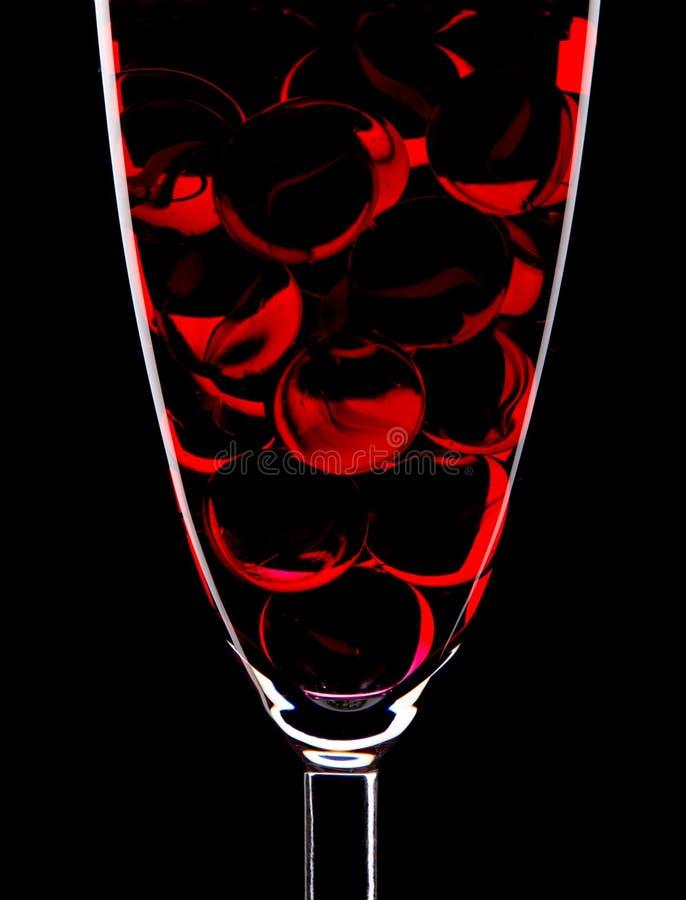 Glas en marmeren ballen stock foto