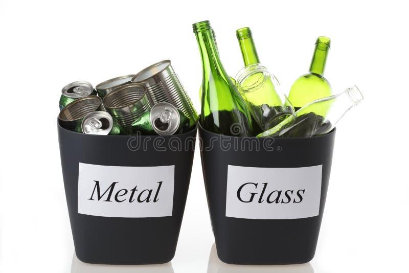 Glas en metaal stock foto's