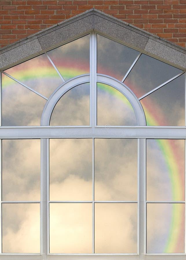 Glas en regenboog stock afbeeldingen