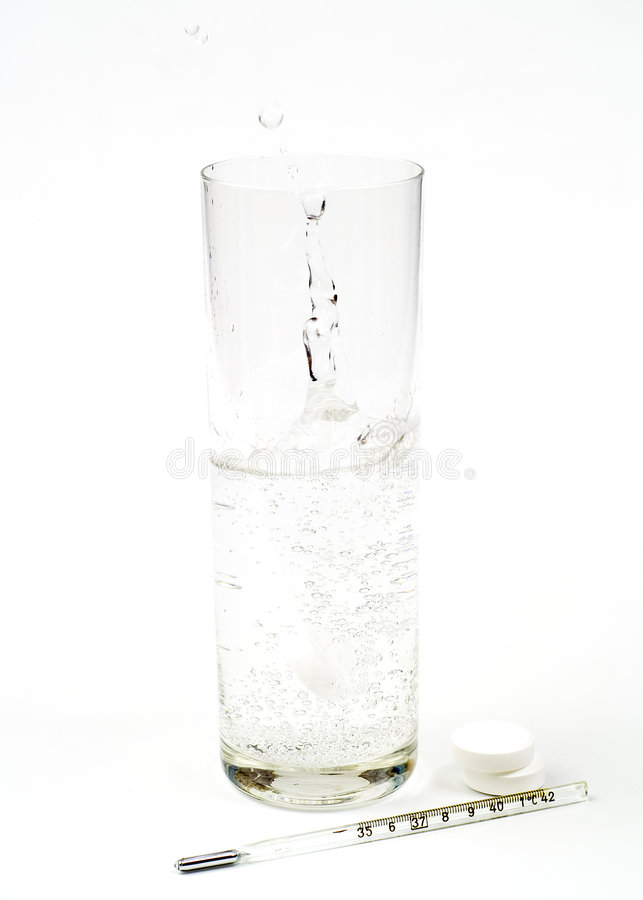 Glas en thermometer royalty-vrije stock fotografie