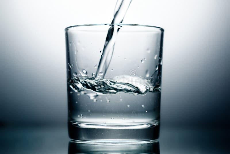 Glas en Water royalty-vrije stock afbeelding