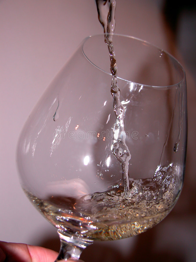 Glas en wijn stock foto