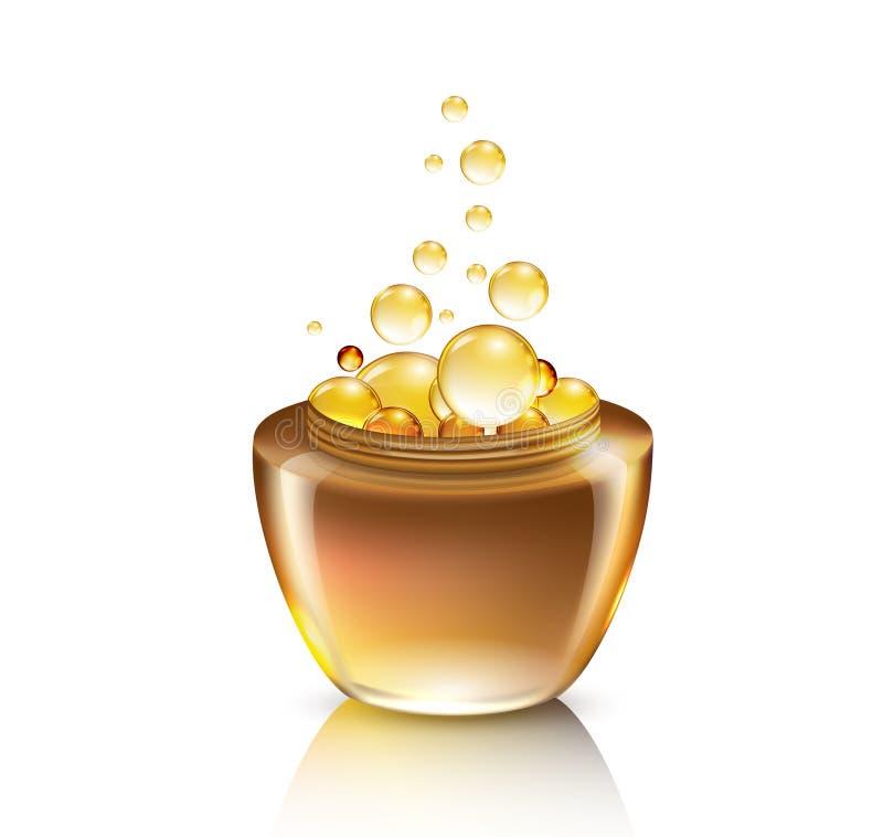 Glas für kosmetische Creme lizenzfreie abbildung