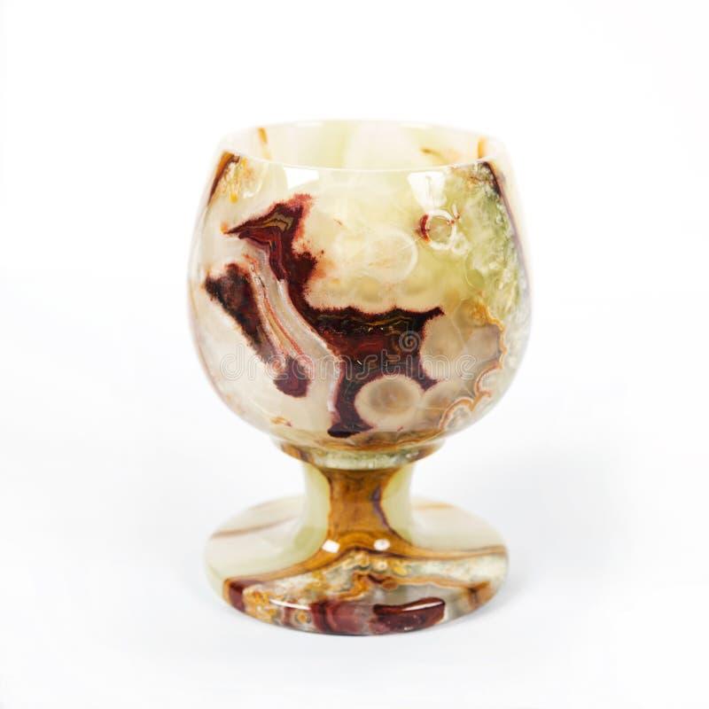 Glas für Wein vom Onyx stockbilder