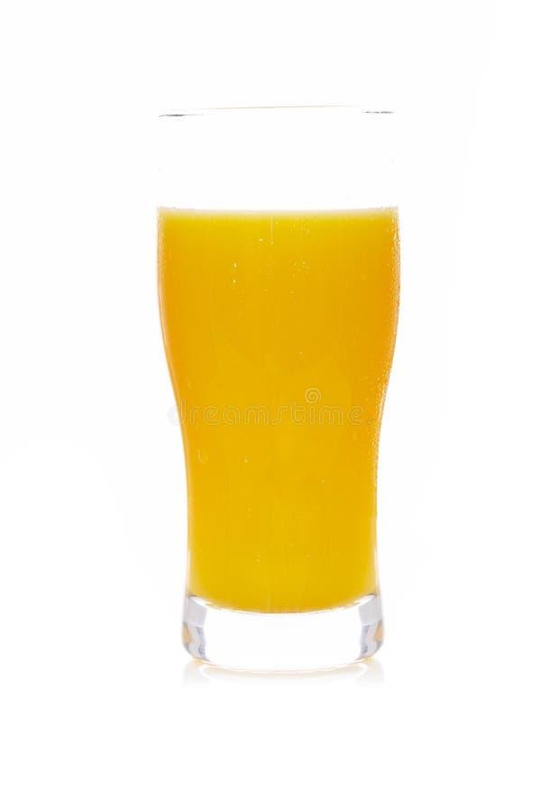 Glas frischer Orangensaft stockbild