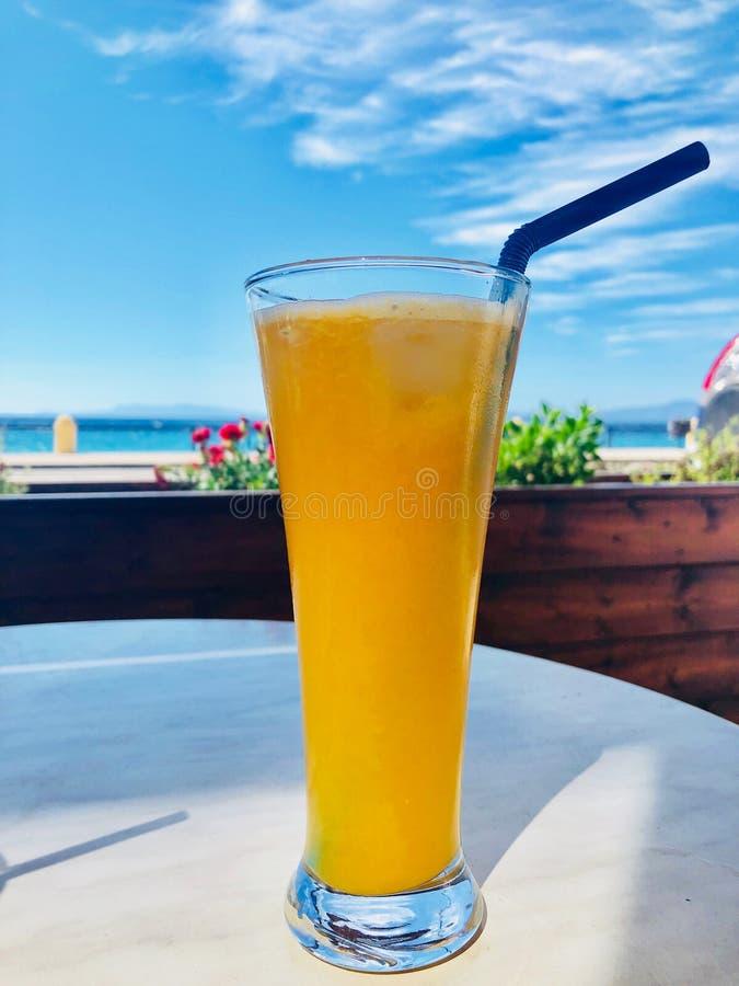 Glas frischer Orangensaft lizenzfreie stockbilder