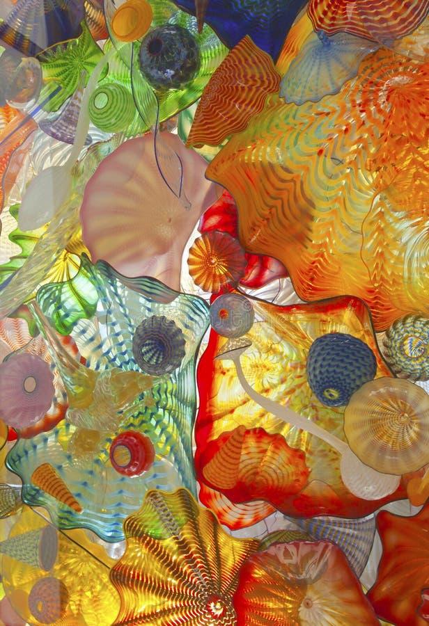 Glas gebeeldhouwde kunst Tacoma Washington stock foto's
