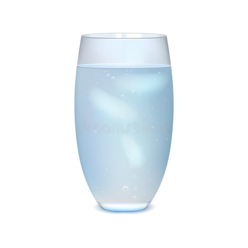 Glas gefrorenes Wasser stockfoto