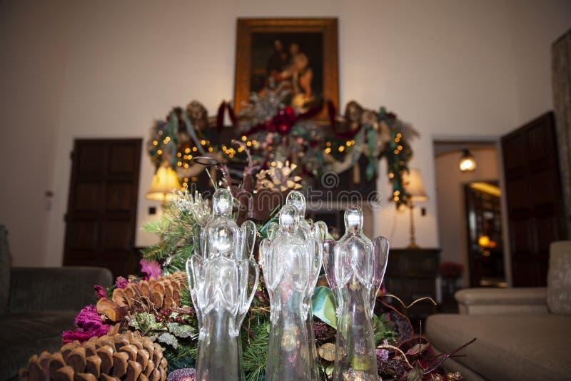Glas gemaakte Kerstmisengel royalty-vrije stock afbeeldingen