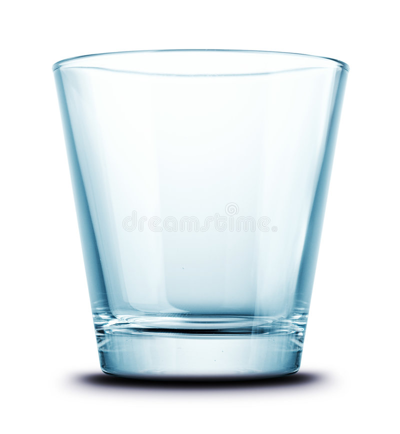 Glas getrennt stockfotografie