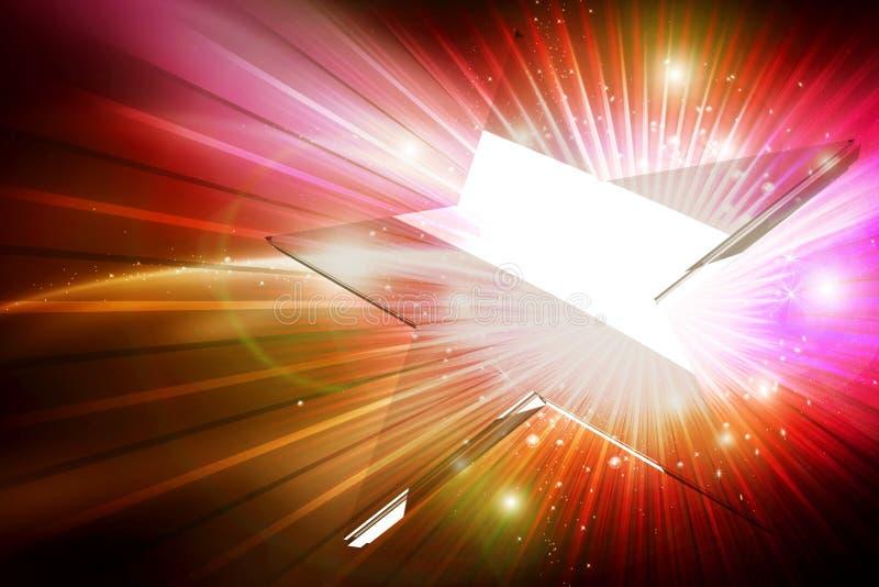 Glas Gwiazdy Przedstawienie Tło ilustracja wektor