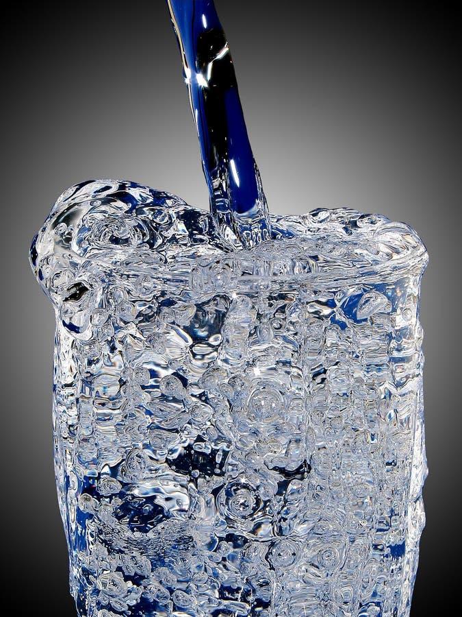 Glas helados del agua fotos de archivo libres de regalías