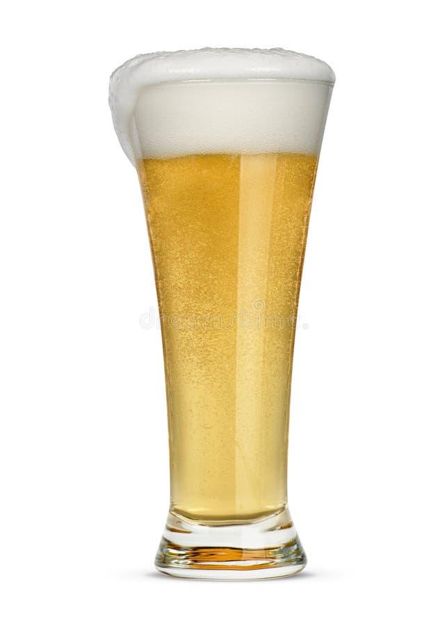Glas helles Bier lokalisiert stockbild