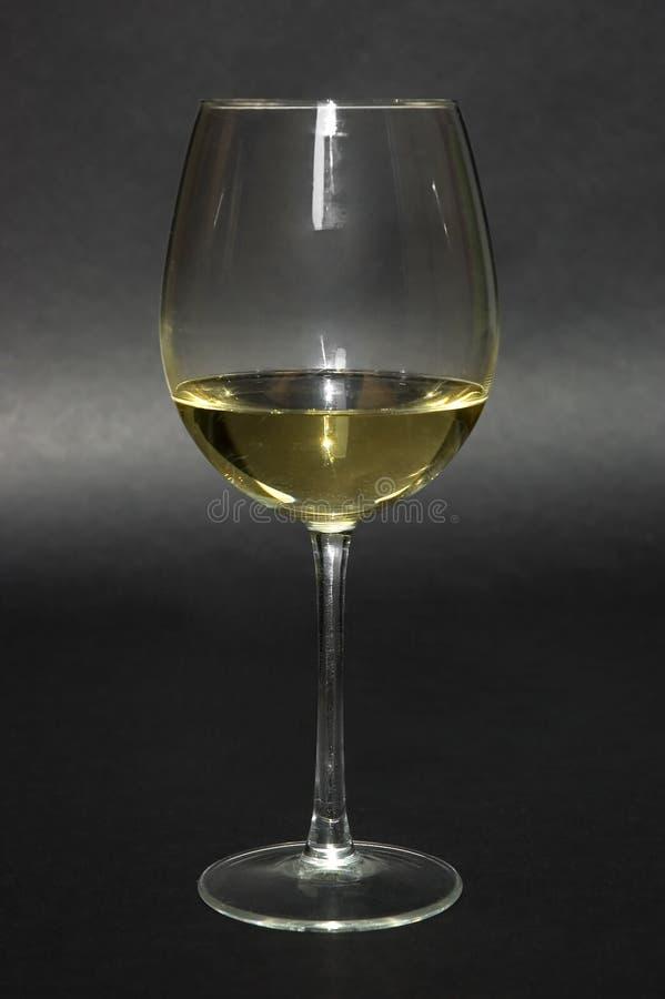 Glas italienischer weißer Wein lizenzfreie stockbilder