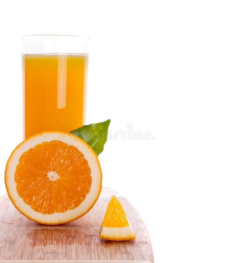 Glas jus d'orange royalty-vrije stock foto