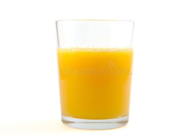Glas jus d'orange op witte achtergrond royalty-vrije stock foto's