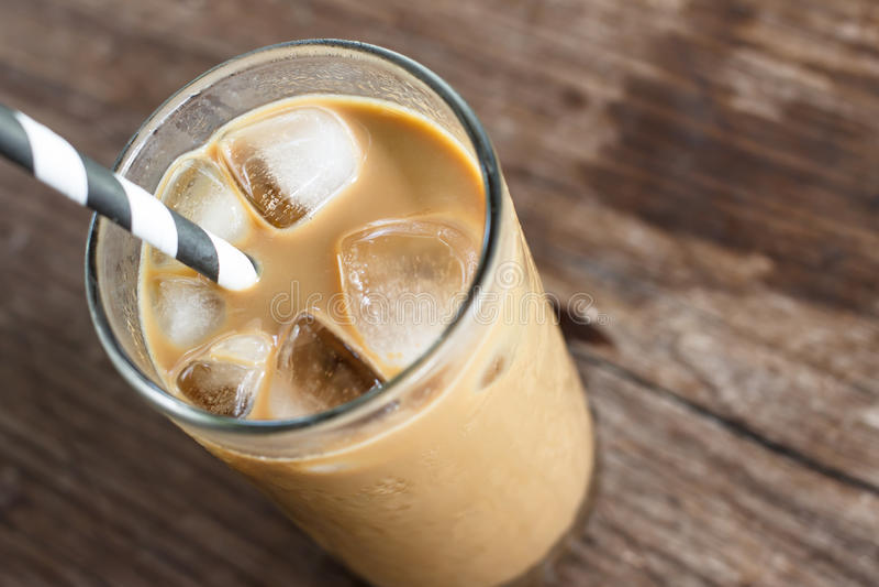 Glas kalter Kaffee lizenzfreies stockfoto