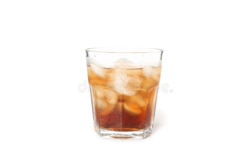 Glas kalter Kolabaum lokalisiert stockfoto