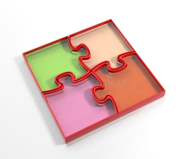 Glas kleurrijke puzzel vector illustratie