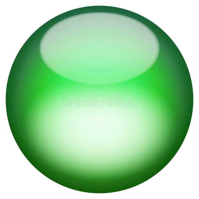 glas- knapp 3d