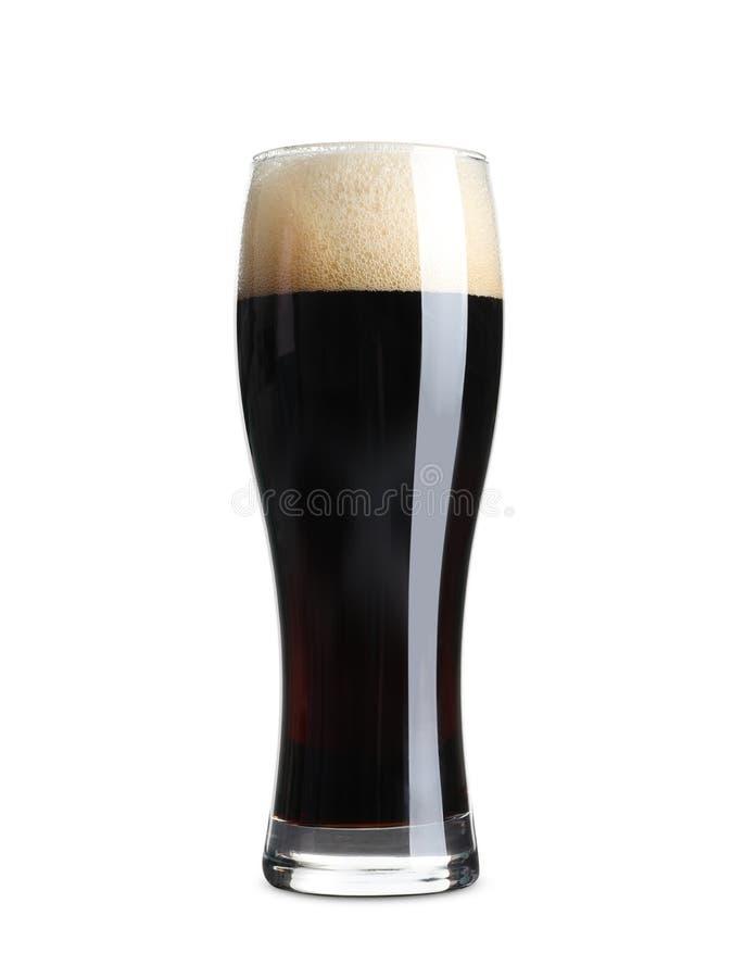 Glas koud donker bier royalty-vrije stock afbeeldingen