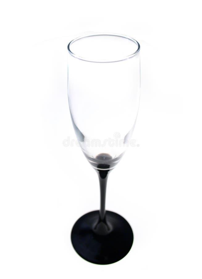 glas, lege champagne stock fotografie