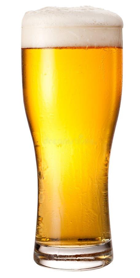 Glas licht bier royalty-vrije stock fotografie