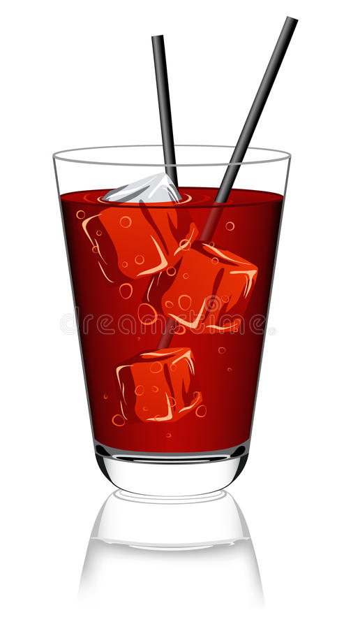 Glas limonade vector illustratie