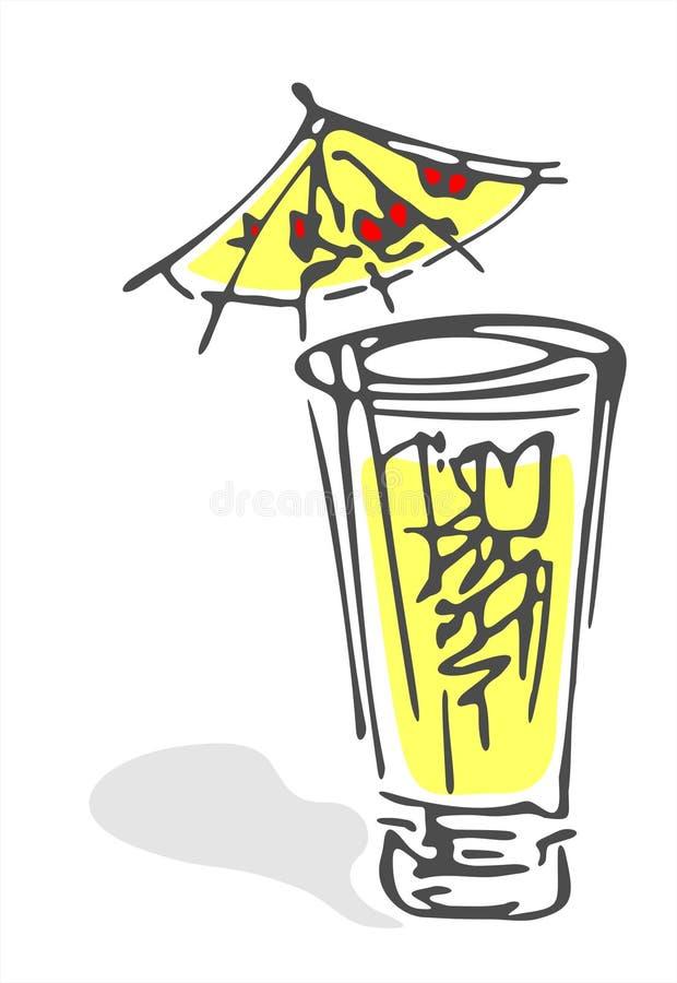 Glas limonade royalty-vrije illustratie