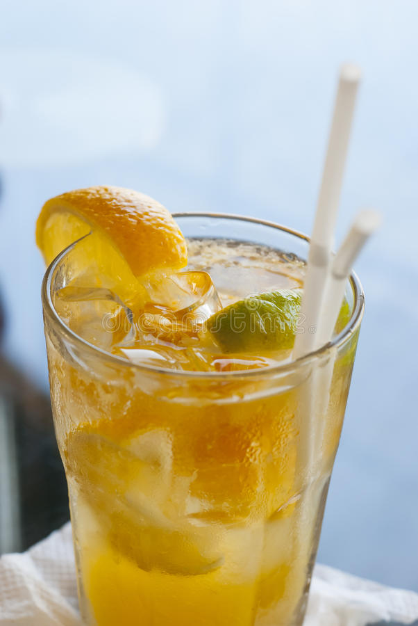 Glas Limonade stock foto's