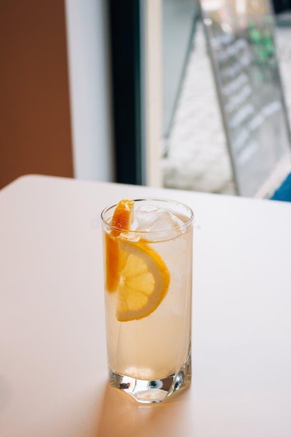 Glas Limonade stockfoto