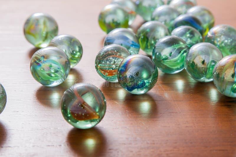 Glas marmeren ballen royalty-vrije stock foto's