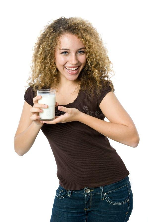 Glas melk royalty-vrije stock afbeeldingen