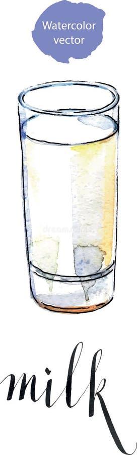 Glas melk stock illustratie