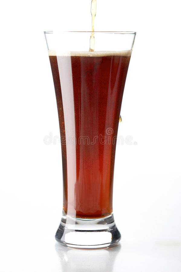 Glas met bier royalty-vrije stock foto's