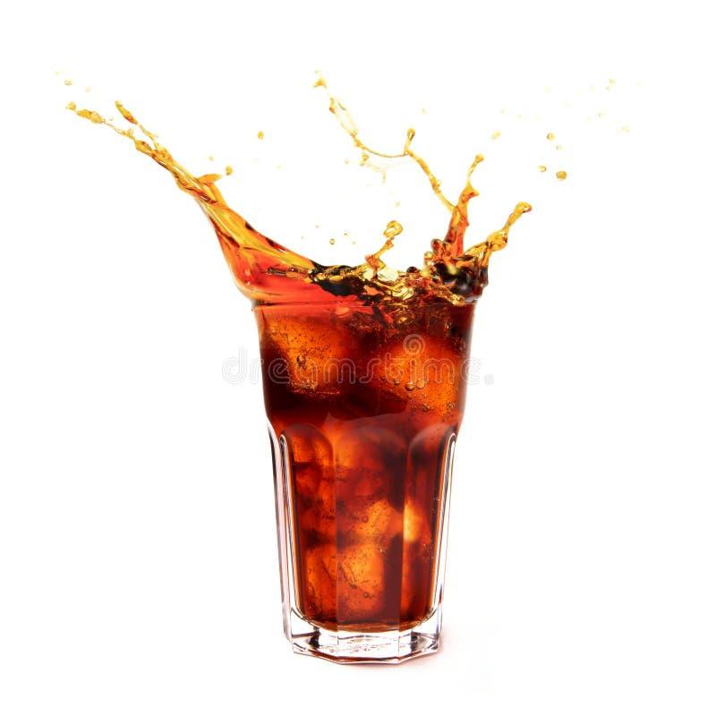 Glas met kola stock afbeelding