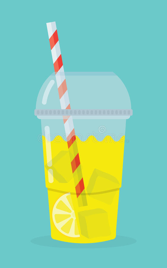 Glas met limonade stock illustratie