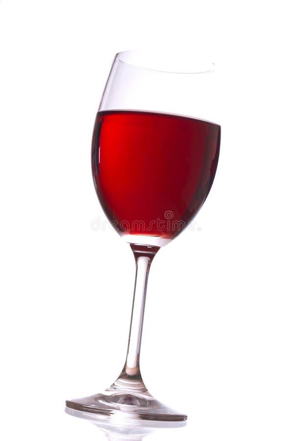 Glas met rode wijn stock foto