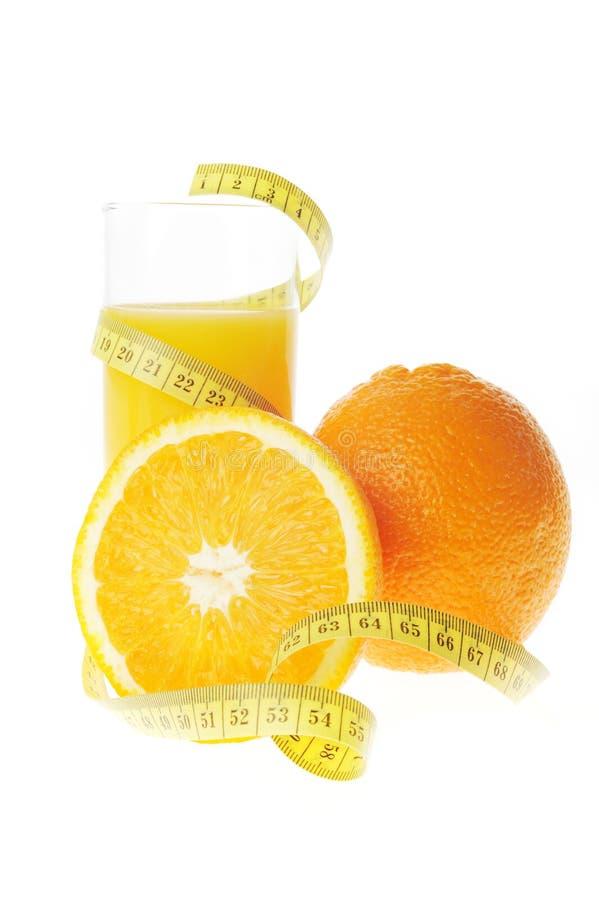 Glas met vers jus d'orange stock afbeelding