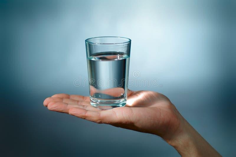 Glas met water stock fotografie