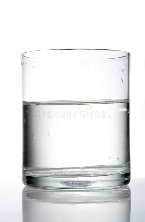 Glas met water royalty-vrije stock foto's