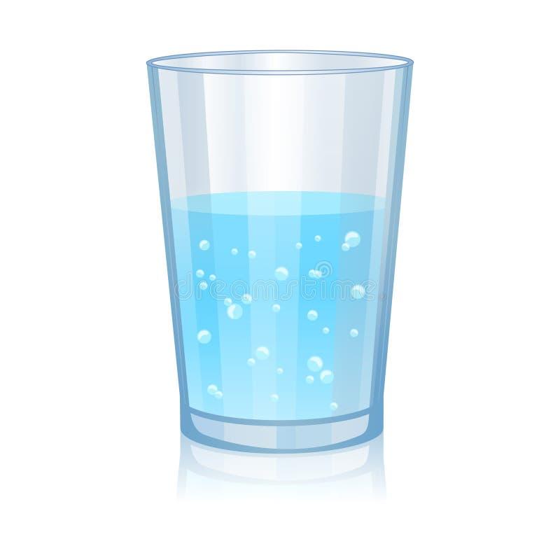 Glas met water geïsoleerde vectorillustratie royalty-vrije illustratie