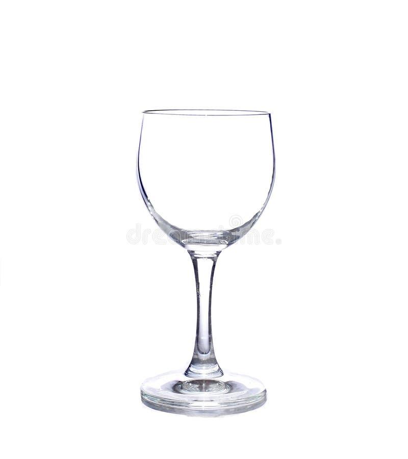 Glas met wit op achtergrond stock afbeelding