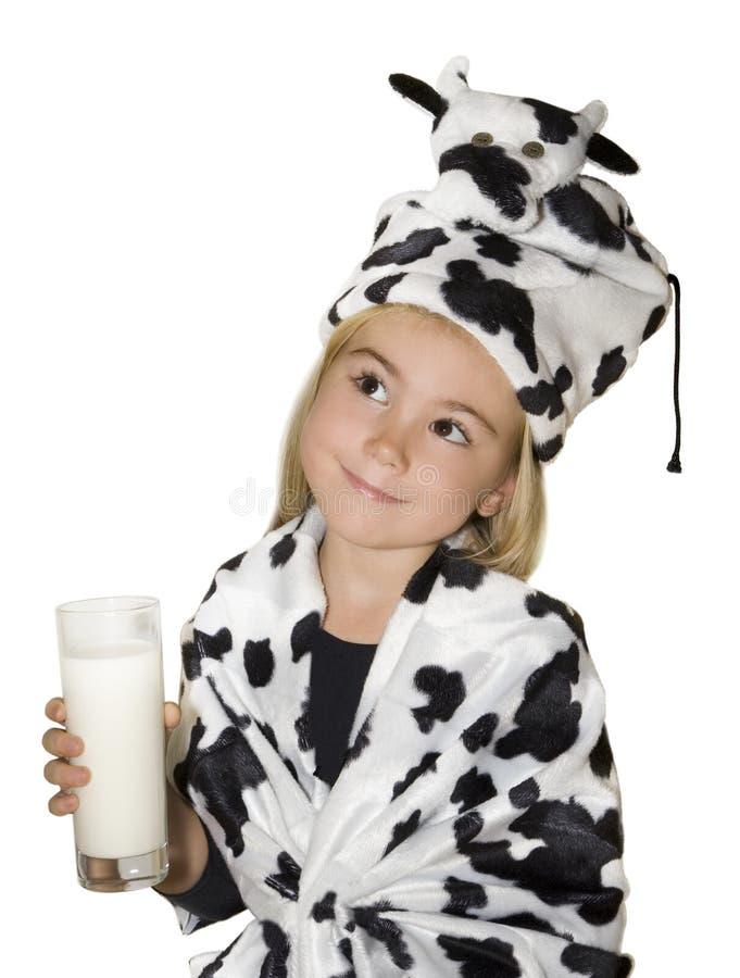 Glas Milch lizenzfreie stockbilder