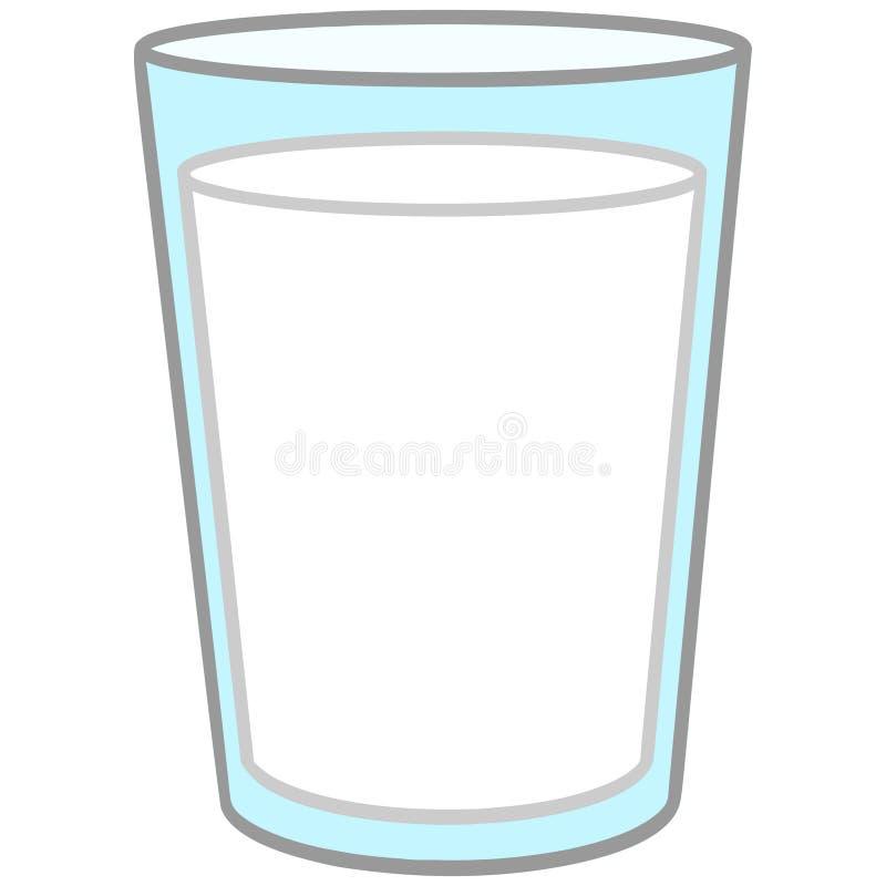 Glas Milch lizenzfreie abbildung