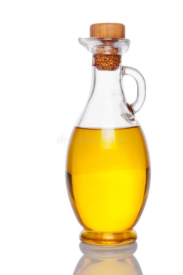 Glas mit Öl lizenzfreie stockfotos