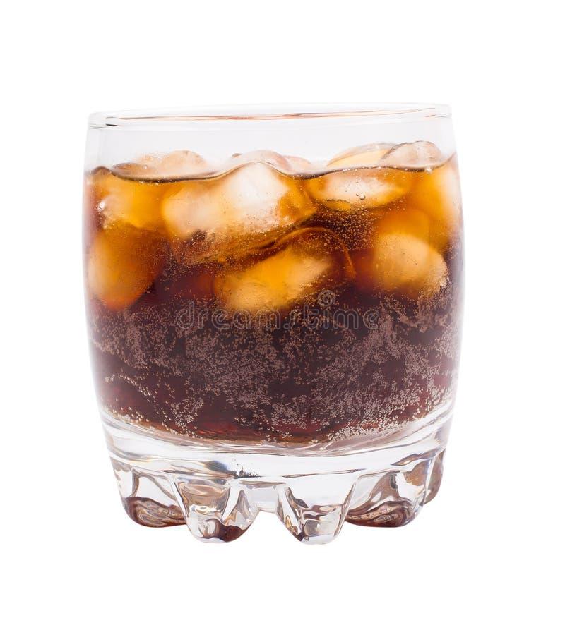 Glas mit Koka und Eis auf a stockbild